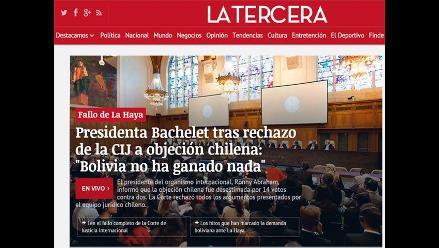 Así informan los medios chilenos ante fallo de La Haya