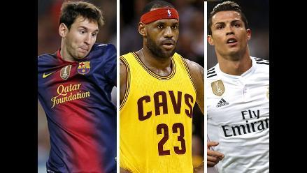 Cristiano Ronaldo, Lionel Messi y los atletas mejor pagados del 2015
