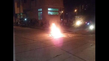Cajamarca: queman moto en protesta contra la delincuencia