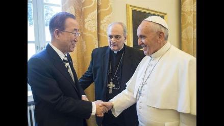 Ban Ki-moon califica al papa como una