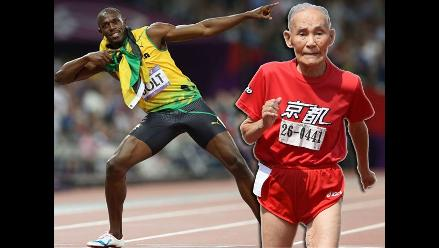 YouTube: anciano celebró igual que Usain Bolt tras ganar carrera