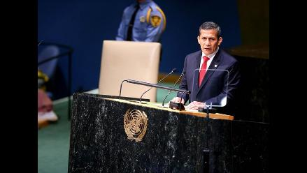 Presidente Humala participará en plenario de la Cumbre de Naciones Unidas