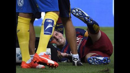 Barcelona: Messi se lesiona y deja rápidamente duelo ante Las Palmas