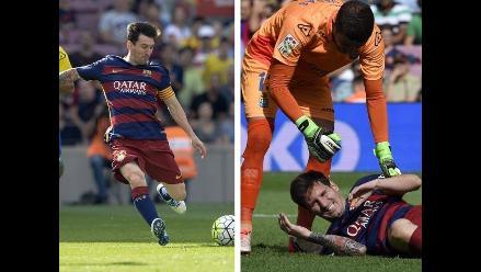 Lionel Messi: Fotosecuencia de su lesión en el Barcelona-Las Palmas