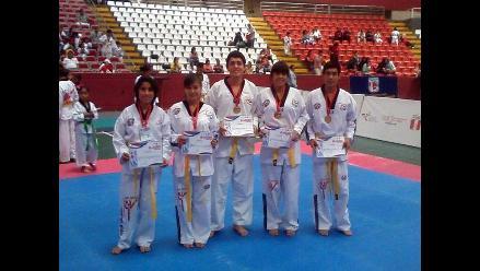 Chiclayo: cinco estudiantes ganan medallas de oro en Taekwondo