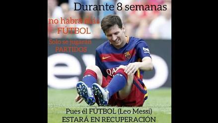 Messi: Estos memes dejó su lesión en el Barcelona-Las Palmas