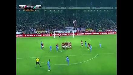 YouTube: Hulk y el alucinante tiro libre en el Zenit vs. Spartak Moscú