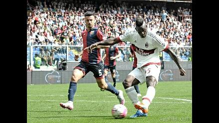 Serie A: AC Milan con Mario Balotelli no pudo en su visita al Genoa