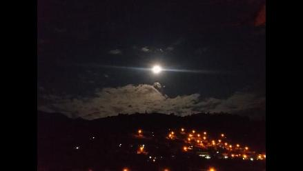 Así vieron los peruanos el eclipse de luna roja