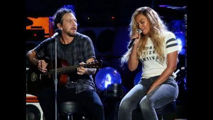 Beyoncé y Eddie Vedder interpretaron a dúo cover de Bob Marley