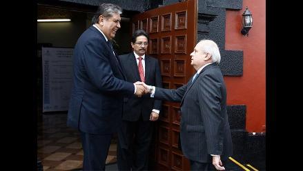 Pedro Cateriano y Alan García se reúnen este lunes