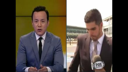 YouTube: periodista de Fox Sports fue atropellado en plena transmisión