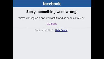 Facebook vuelve a presentar fallas