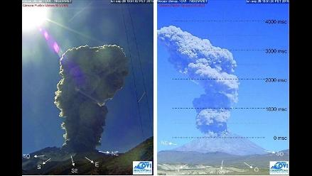 Fuerte explosión se registró en el volcán Ubinas
