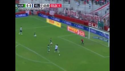 YouTube: Nanni tenía el gol del triunfo de Vélez, pero pateó al aire