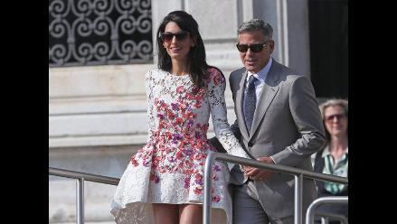 George Clooney cumple un año de casado
