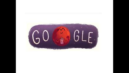 Google celebra el hallazgo de agua en Marte con un doodle