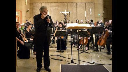 Plácido Domingo lloró en conmovedor tributo a su hermana