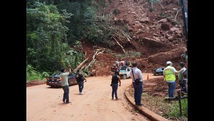Continúa restringido el tránsito por la vía Tarapoto - Yurimaguas