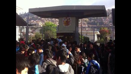 Cusco: estudiantes toman local de la universidad San Antonio Abad