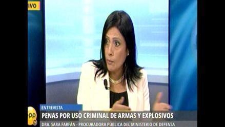 Mindef: Decreto elimina trabas para sancionar posesión de explosivos