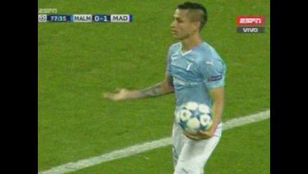 Malmö vs. Real Madrid: Yotún fue expulsado por codazo a Lucas Vásquez