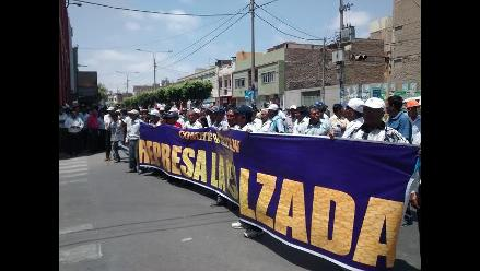 Agricultores marchan pidiendo construcción de represa en Lambayeque