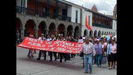 Ayacucho: pobladores exigen mejoras en servicios básicos