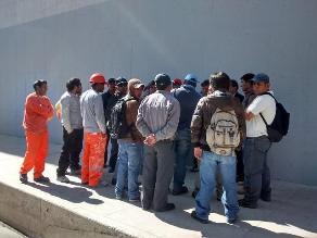 Cajamarca: trabajadores de construcción civil piden más trabajo
