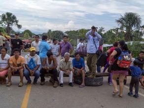 Yurimaguas: acatan primer día de paro por demarcación territorial