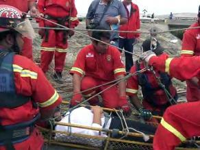 El Niño: bomberos realizan simulacro de labores de rescate en Chimbote