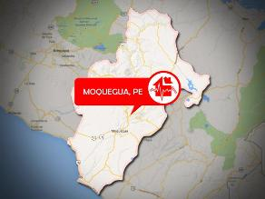 Sismo de 3.7 grados de magnitud se registró en Moquegua