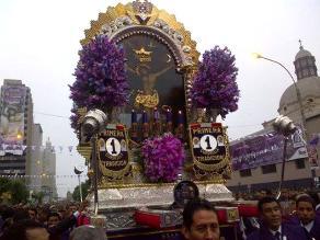 Recorrido procesional del Señor de los Milagros será trasmitido por web