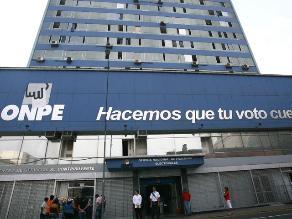 ONPE: Financiamiento público es un paso positivo para reforma electoral