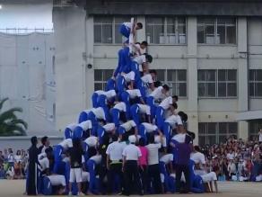 YouTube: Intentaron pirámide humana pero algo salió mal