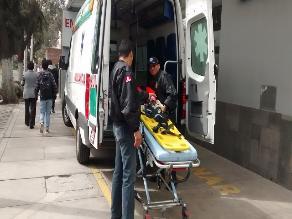 Universitario fue atropellado por camioneta en el cercado de Arequipa