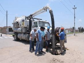 Chiclayo: Epsel inicia la limpieza de las redes de alcantarillado en Reque