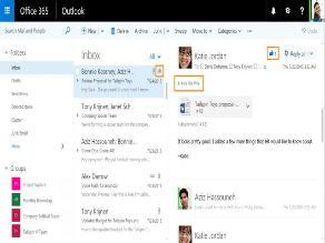 Outlook incorpora los 'me gusta' y las menciones en nueva actualización