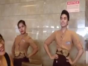 Facebook: empleados realizan peculiar baile por cumpleaños de un comensal