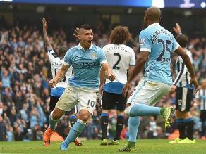 Manchester City aplastó 6-1 al Newcastle con cinco goles de Sergio Agüero