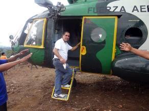 Bagua: helicóptero del ejército aterrizó de emergencia por fallas mecánicas