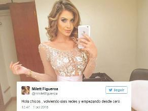Milett Figueroa estrena Instagram y Twitter