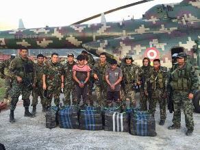 Incautan 350 kilos de alcaloide de cocaína en centro poblado de Satipo