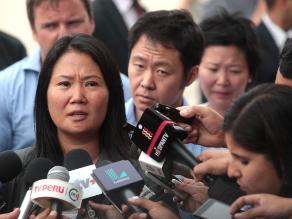 Keiko Fujimori responde tras su discurso en Harvard este lunes en RPP