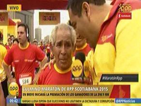 Maratón RPP: anciano de 77 años demostró que no hay edad para correr