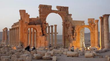 Siria: Estado Islámico destruyó el Arco del Triunfo de Palmira