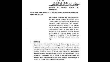 Interponen queja funcional contra fiscal superior de Lambayeque