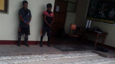 Investigan a presuntos narcotraficantes capturados en Satipo