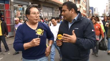 Jimmy Santi recorrió calles de Lima como reportero de RPP