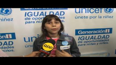 Unicef: niños reclaman sus derechos a futuros candidatos